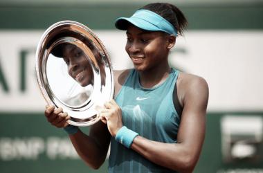 Cori Gauff al ganar Roland Garros Junior en 2018. Fuente: Zimbio