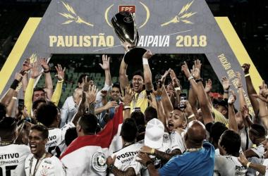 Em 2018, o Timão foi campeão estadual em cima do rival Palmeiras em pleno Allianz Parque. (Foto:Foto: Divulgação / Corinthians
