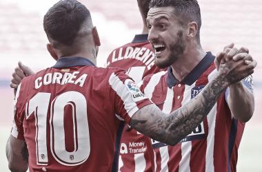 """<figure class=""""article-image""""><figcaption class=""""image_caption_news"""">Celebración de gol / Twitter: Atlético de Madrid</figcaption></figure><section class=""""article-content""""></section>"""