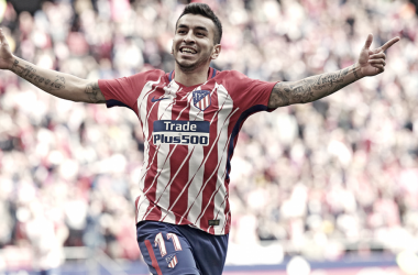 Correa celebra su gol frente al Levante/ Fuente: Atlético de Madrid
