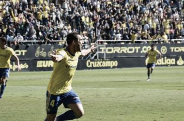 Correa anotó el empate cadista. Fuente: cádizcf.com