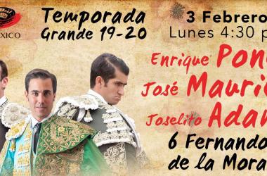 Enrique Ponce, Joselito Adame y José Mauricio EN VIVO transmisión online Plaza México