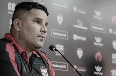 Eduardo Barroca após Atlético-GO 2 a 0 São Paulo (Bruno Corsino / ACG / Divulgação)