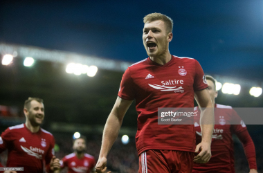 Sam Cosgrove, pictured, continues to come up good for the Dons (Getty Images: Scott Baxter)