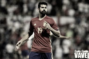 Diego Costa con la selección española. | Foto: Carla Cortés / Vavel