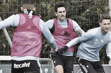 David Costas y Jorge Sáenz durante una sesión de entrenamiento | Fuente: Alba Villar