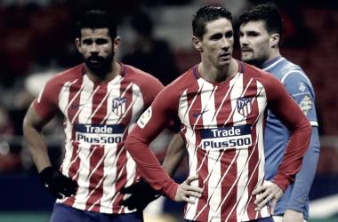 Diego Costa y Fernando Torres, juntos en un partido/ Fuente: Atlético de Madrid