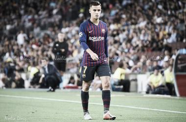 Coutinho ha marcado su primer gol con el FC Barcelona en la Champions League | Foto: Noelia Déniz (VAVEL.com)