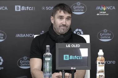 Eduardo Coudet en la rueda de prensa | Imagen: Celta Media