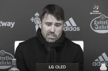 Eduardo Coudet, en la rueda de prensa posterior al choque | Imagen: LaLiga