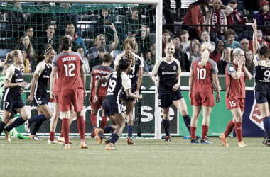 Sam Mewis scored for the North Carolina Courage at Providence Park in Portland, OR on May 30, 2018 | Photo: NWSLsoccer.com