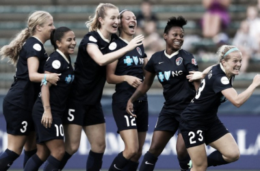 The North Carolina Courage dominated all season, but did not win the NWSL Championship | Source: Andy Mead - ISI Photos