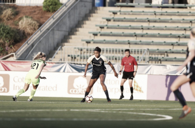 North Carolina forward Jess McDonald scored the game-winning goal in the 1-0 win over Seattle Reign FC. | Photo: @TheNCCourage