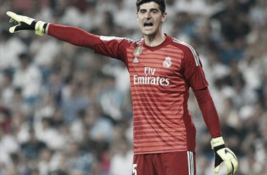 Courtois durante un partido con el Real Madrid/ Foto: Real Madrid