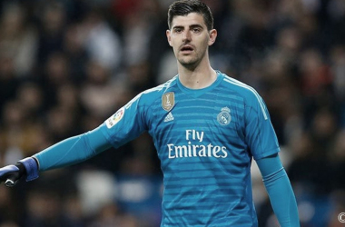 Courtois en un partido con el Real Madrid. Fuente: Real Madrid.