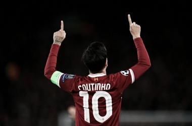 """Em Anfield, Coutinho ganhou o apelido de """"Mágico"""" (Reprodução /Liverpool)"""