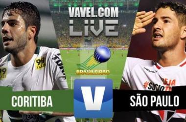 Resultado Coritiba x São Paulo no Campeonato Brasileiro 2015 (1-2)