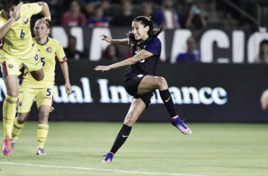 Christen Press scored her 41st goal in 80 appearances for the US tonight | Source: Brad Smith/ISI Photos
