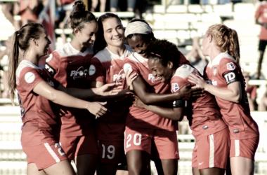 Washington Spirit goal celebration | Photo: Caitlin Buckley/ Black and Red United