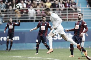 Cristiano Ronaldo segna il gol dell'1-2 contro l'Eibar. Fonte: LaLiga.es