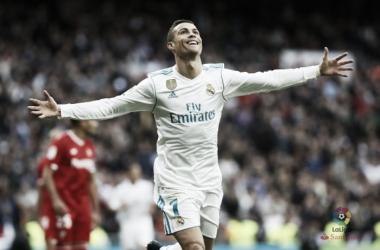 Cristiano Ronaldo, doppietta al Siviglia. Fonte: LaLiga.es