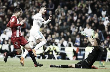 Cristiano Ronaldo, quattro gol al Girona. Fonte: LaLiga.es