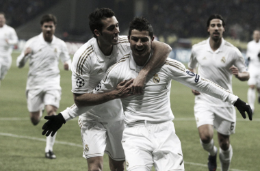 Cristiano Ronaldo, celebrando el gol del Madrid en la ida | Foto: EFE