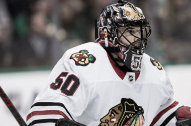 Chicago Blackhawks' goalie hasn't played since December 23, 2017 (PHOTO:Jerome Miron-USA TODAY Sports)