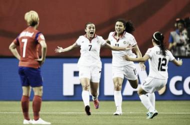 Karla Villalobos celebrates her dramatic winner for Costa Rica. Photo source: FIFA
