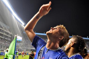 Cristian Nasuti de cabeza anotó el gol para asegurar primera etapa