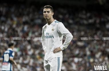 Cristiano se lamenta por la poca suerte del equipo de cara a gol I Foto: Daniel Nieto (VAVEL)