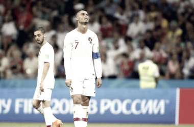 Cristiano Ronaldo se lamenta tras uno de los goles de Uruguay | Foto: FIFA.com