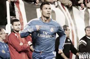 Cristiano Ronaldo, celebrando el primer gol en Vallecas (Foto: Dani Mullor, VAVEL.COM)