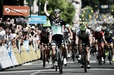 Pascal Ackermann llegada / foto: Critérium du Dauphiné