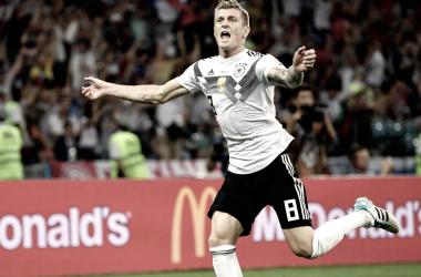 Kroos con gol de cobro de falta al 95 le dio el triunfo a los campeones / Foto: FIFA