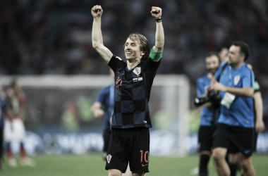 La alegría de Modric es la alegría de todo un pueblo (Foto: Sitio Oficial FIFA)