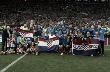 Los jugadores croatas celebraron eufóricamente su paso a su primera final| Foto: Federación Croata de Futbol