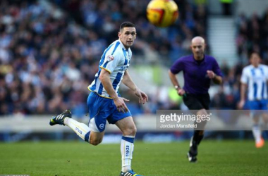 Andrew Crofts in action for Brighton in his second spell at the club. Image courtesy ofJordan Mansfield on Getty Images.