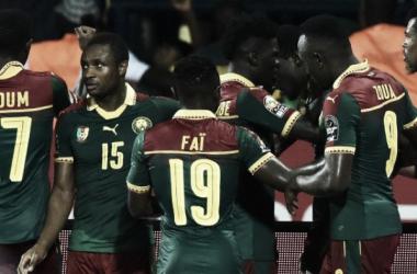 I camerunensi festeggiano il raggiungimento della finale. | sportal.it