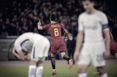 Perotti (29) esulta dopo il gol del 3-0