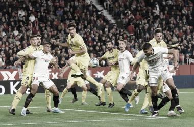 Imagen del Sevilla - Villarreal de la temporada pasada, aún con público. | Foto: sevillafc.es