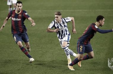 Derrota agridulce de la Real ante un Barça irregular
