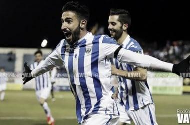 Chuli celebra con ganas el segundo gol del Leganés (Foto: Apo Caballero | VAVEL.com)