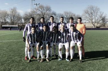 Once inicial blanquivioleta en los Anexos del Estadio José Zorrilla. | Foto: Real Valladolid.