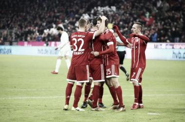 El Bayern, cada vez más líder. Foto vía: Twitter @FCBayern
