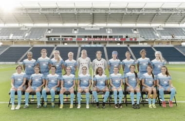 The Chicago Red Stars pose for their 2016 NWSL season picture (Source: @ChicagoRedStars)