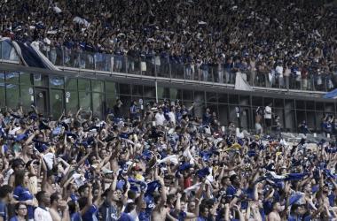 Torcida, no jogo entre, Cruzeiro e Atlético-MG. Foto: Mauricio Farias/Light Press