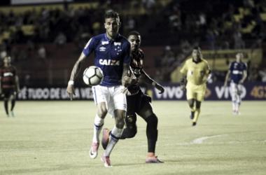 Rafael Marques entrou no segundo tempo e fez seu debute com a camisa celeste (Foto: Leo Caldas/Light Press/Cruzeiro)