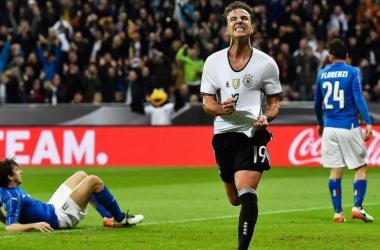Peu utilisé au Bayern Munich, Mario Götze s'est une nouvelle fois montré décisif sous le maillot de l'équipe nationale allemande (photo : dfb.de)