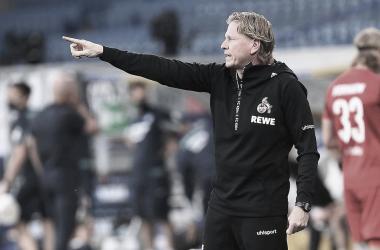 Markus Gisdol elogia desempenho do Colônia mesmo após derrota para RB Leipzig
